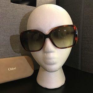 Chloe Green Gradient Square Sunglasses CE680S